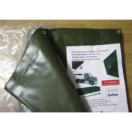 Plachty z PVC - pogumovaná autoplachtovina (560g/m2) 2,5m x 4m