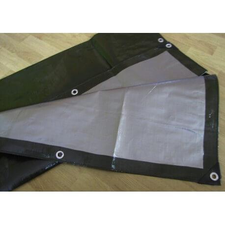 Krycí nepromokavá plachta super těžká (200g/m2) zelená, 3m x 4m