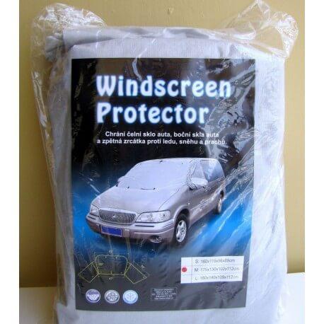 Zimní plachta na auto na zakrytí předního a bočních skel S: 160x119x96x89 cm
